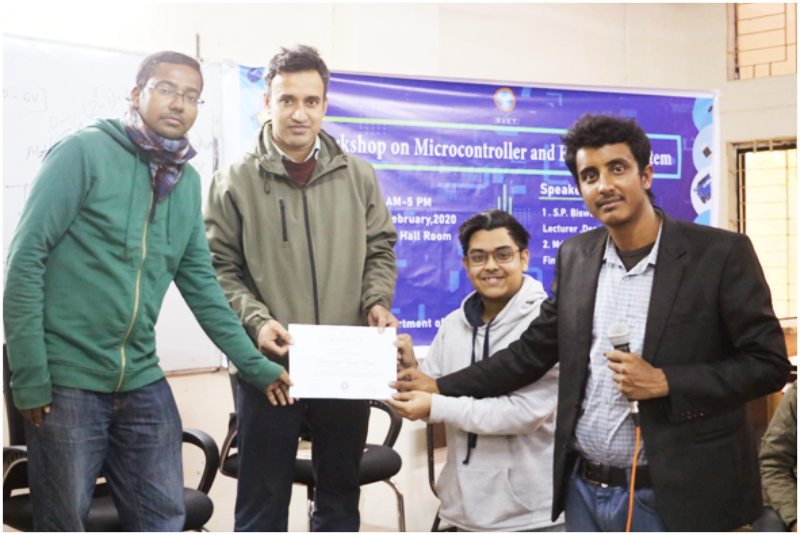 "A day long workshop on ""Microcontroller and Embedded System"""