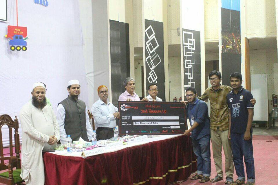 ETE Student Win 2nd Runner-up Prize in Robotronics 2019, RUET